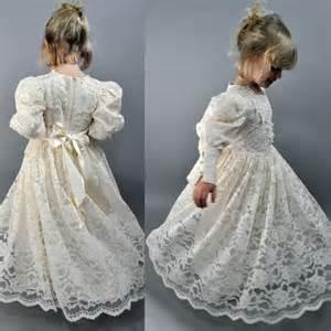 Little girls vintage victorian lace wedding by rockstreetvintage