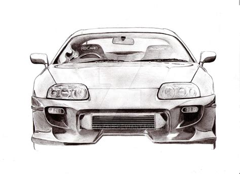 Toyota Supra Drawing Toyota Supra Front By Kathmazais On Deviantart