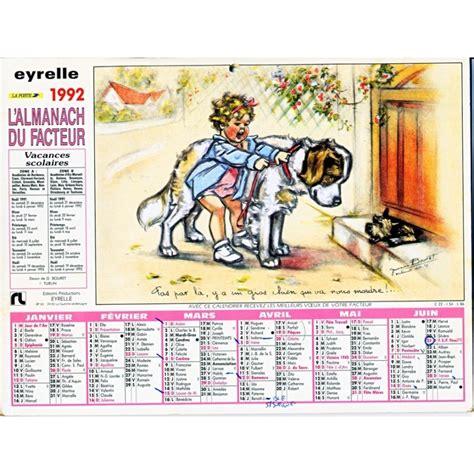 Calendrier De 1992 Calendrier Almanach Du Facteur 1992 Germaine Bouret
