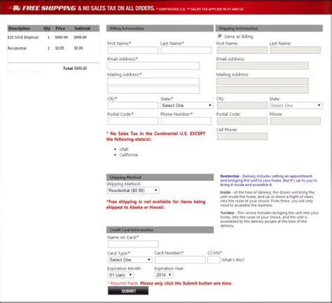 sofa free shipping no tax sole e25 elliptical 2013 model reviews