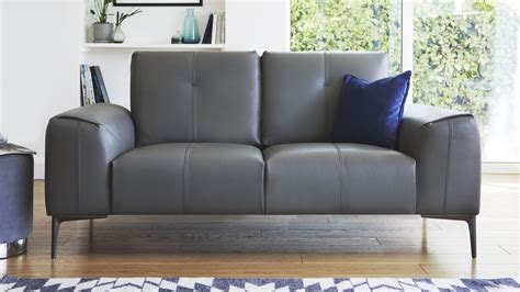 dillon leather sectional 2 seater real leather sofa living room furniture uk