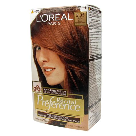 l oreal recital preference permanent hair color 535