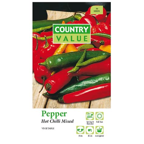 Country Value Marigold Mixed country value mixed chilli pepper vegetable seeds bunnings warehouse