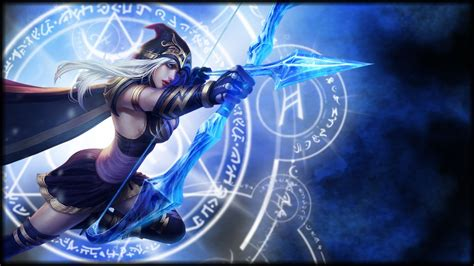 bows anime hair bows ashe league  legends wallpapers