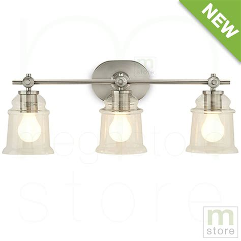 bathroom vanity  light fixture brushed nickel bell wall lighting allen roth ebay