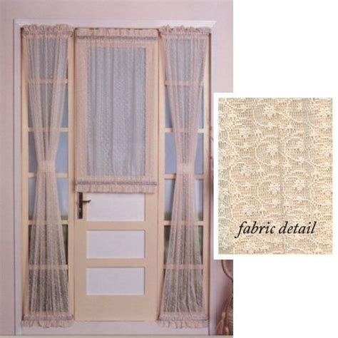 Curtains For Back Door 72 Quot Lace Door Curtain Panel With Tie Back By United Curtain 8 99 40