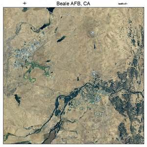 aerial photography map of beale afb ca california