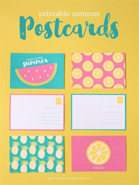 Free Printable Postcards Printable Summer Postcards Capturing With Kristen Duke