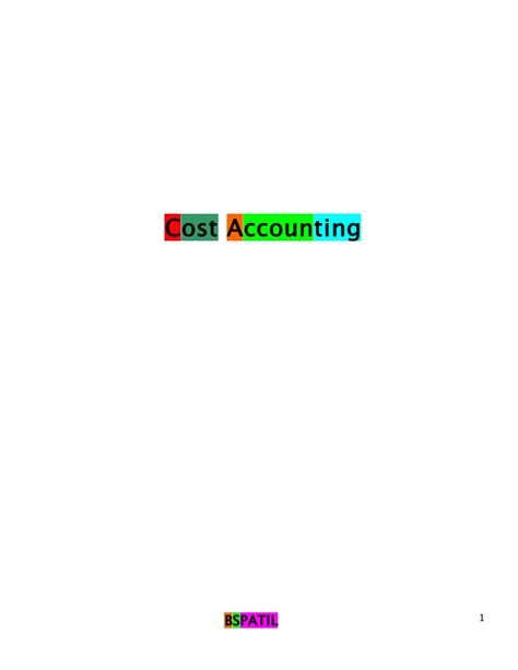 Cost Accounting Projects Mba Students by Cost Accounting Book Of 3 Rd Sem Mba Bec Doms