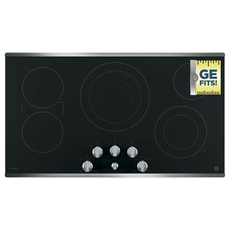 Ge Electric Cooktop Ge Profile 36 In Electric Smooth Cooktop In Stainless