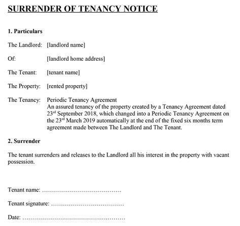 templates life tenancy agreement form