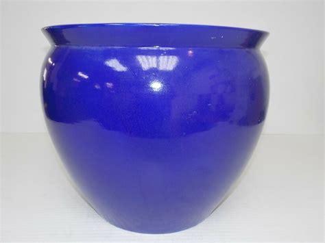 Cobalt Blue Planters by Cobalt Blue Porcelain 17 Quot Planter Pot Ebay