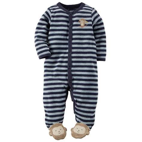 Sleeper Pajamas by S Newborn Boy S Terry Cloth Sleeper Pajamas Monkey