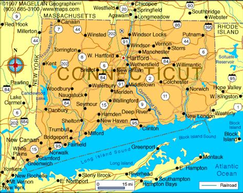map of ct towns connecticut map infoplease
