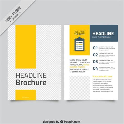 brochure template yellow yellow modern business brochure vector free download