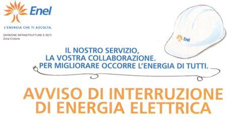 orari uffici enel avviso di interruzione energia elettrica comune di manziana