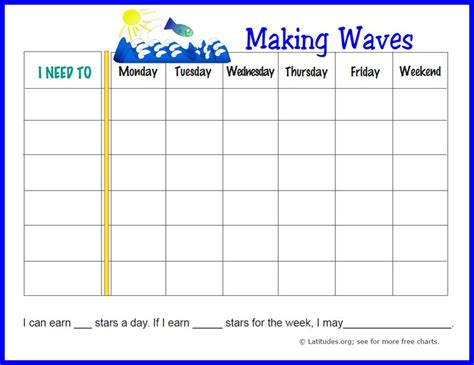 free weekly incentive chart activity bear acn latitudes free weekly behavior chart making waves acn latitudes