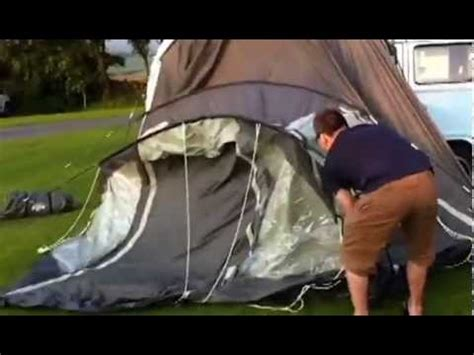 how to put an awning up how to put up the cervan awning in 3 5 mins youtube