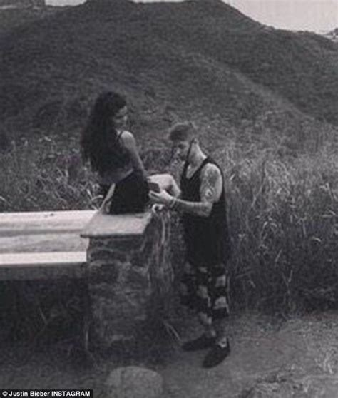 justin bieber bench justin bieber posts tender picture of himself with selena