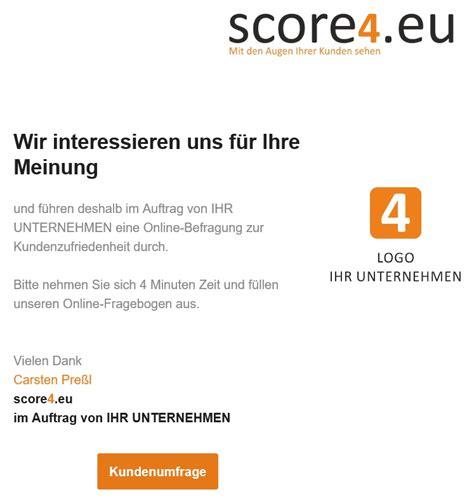 Anschreiben Kundenzufriedenheit Scoring Umfrage Kundenzufriedenheit Score4 Eu