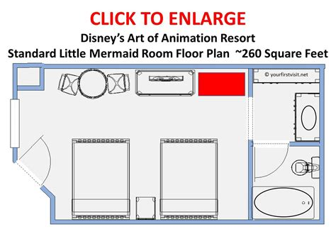 disney of animation family suite floor plan review the mermaid area and rooms at disney s