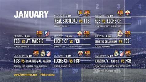 Calendrier Fc Barcelone Janvier 2015 Programme Calendrier Du Fc Barcelone
