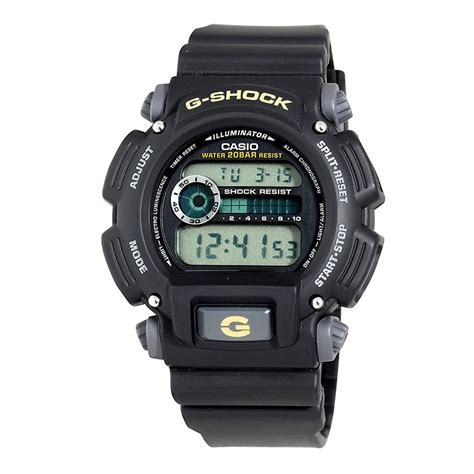 Gshock W01s Black L Blue casio s dw9052 1bcg g shock multi function digital