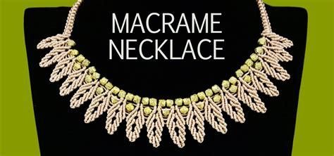 Macrame Chain - how to macrame petal chain necklace 171 jewelry