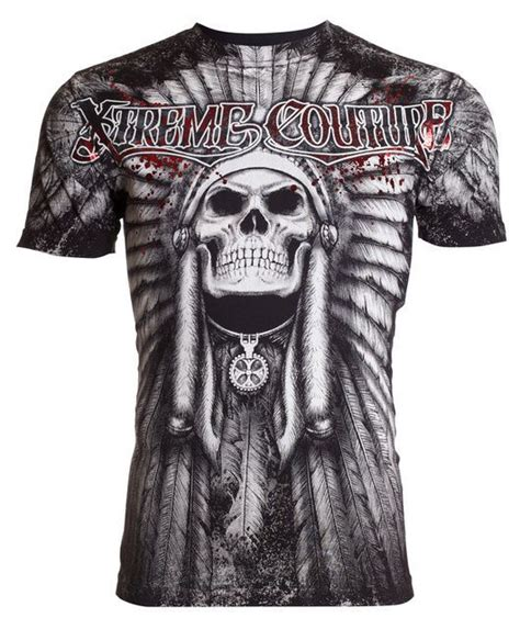 couture tattoo xtreme couture affliction mens t shirt pala skull indian