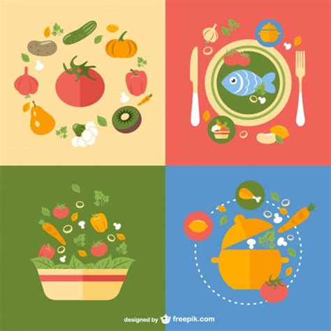 imagenes vectoriales free dise 241 os vectoriales de comida saludable descargar