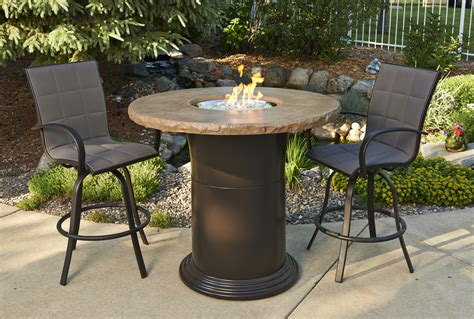 bar height fire pit set bar height patio set with fire pit