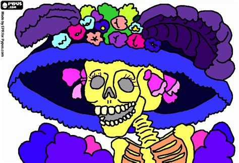 imagenes de calaveras animadas para colorear dia de muertos dibujo calaveras tattoo