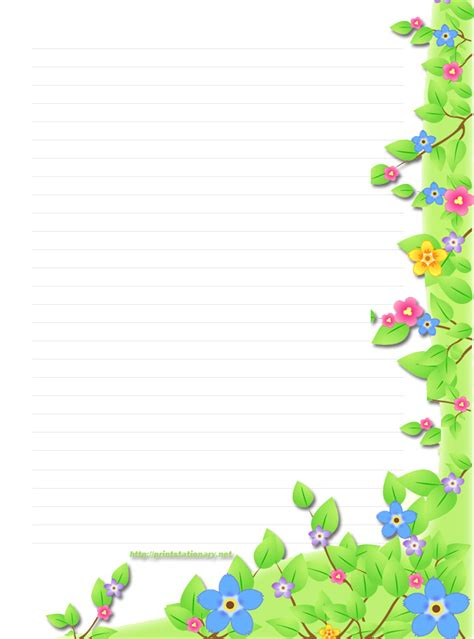 free printable spring stationery stationary spring themed writing paper teachers