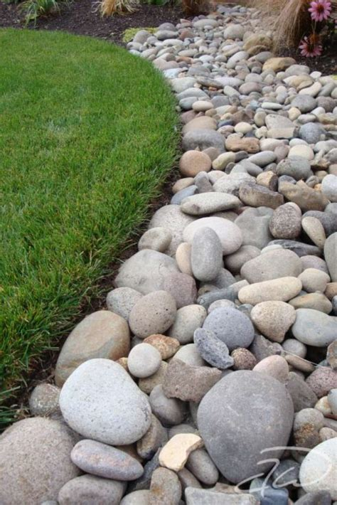 rock bed easy ideas for landscaping with rocks