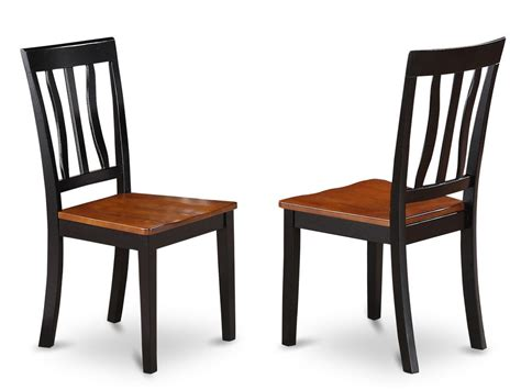 Set Of 2 Antique Dinette Kitchen Dining Chairs W Plain Dining Kitchen Chairs