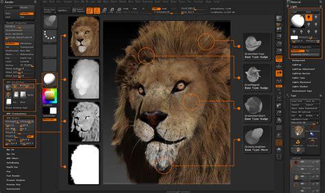 tutorial fibermesh zbrush breakdowns of oldman and lion by painzang zbrushtuts
