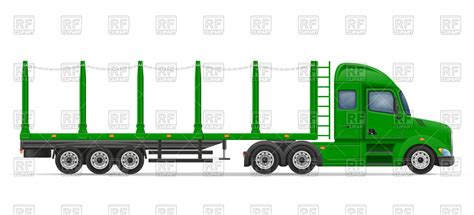 semi trailer truck semi truck and trailer side view pixshark com