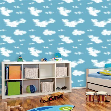 Children Wall Mural achetez en gros papier peint plafond nuages en ligne 224 des