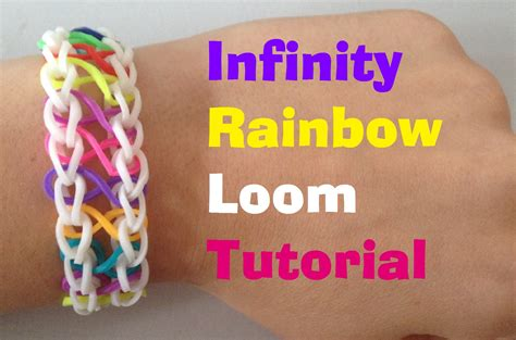 youtube tutorial loom bands infinity rainbow loom bracelet tutorial l jasminestarler