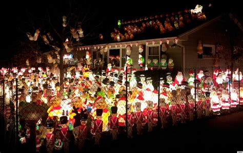 howmuch is too much for christas decorations santa army takes yard in this decoration display seen on reddit photo