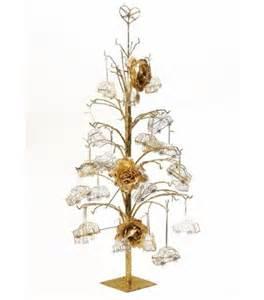 pr 233 sentoir arbre m 233 tal or 1m decoration de noel pas cher