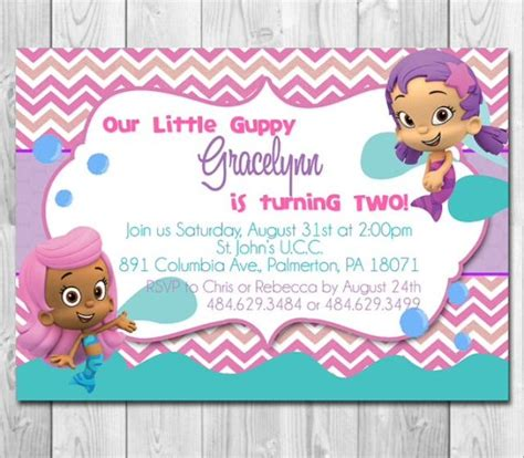 best 25 bubble guppies invitations ideas on pinterest