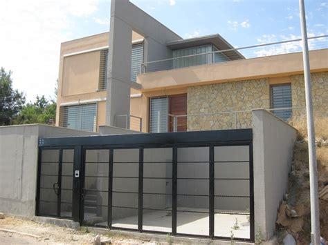 fachadas de garage casas moderno exterior garaje puertas fachada
