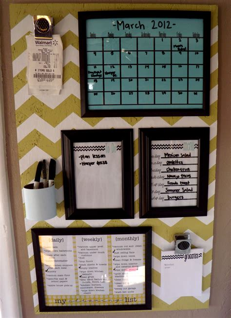 home organization plan organization board family command center girl loves glam