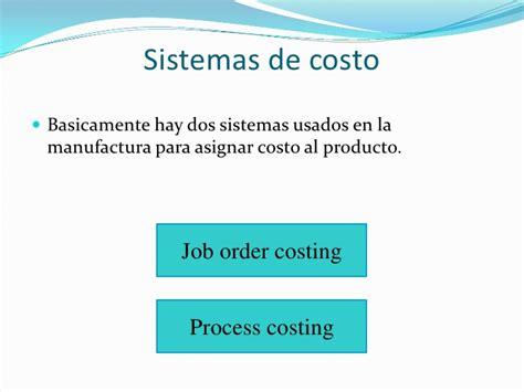 Jet Mba Internship by Costing Process Costing Costo Por Projecto Costos Directos