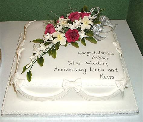 Wedding Anniversary Quotes For Cakes by Silver Anniversary Cake Anniversary And Birthday Cakes