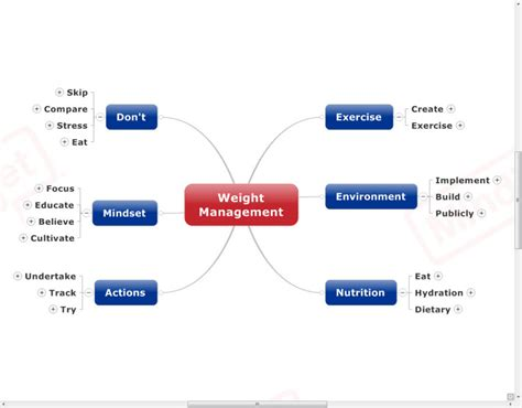 weight of management weight management mind map