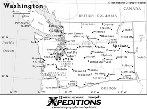 5 themes of geography washington state washington state geography task