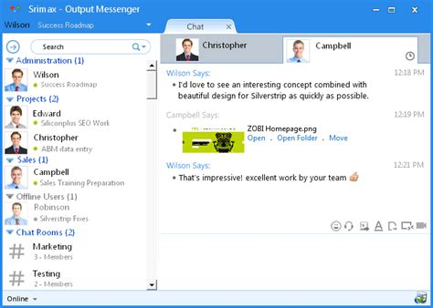 instant chat room lan messenger lan office chat from output messenger