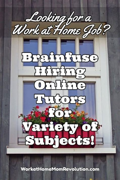 Online Tutor Jobs Work From Home - work at home brainfuse online tutoring jobs work at home mom revolution